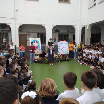Sor Leyla, sucesora de Santa Emilia, ha traído una sonrisa a los niños y jóvenes del colegio de Córdoba.