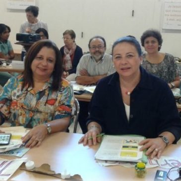 Rencontre d'une délégation de LSF à Villefranche.