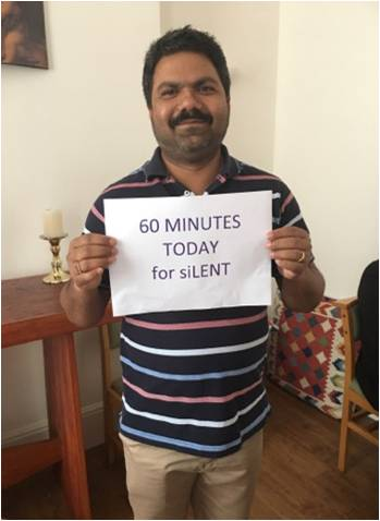 60 minutes de silence aujourd'hui