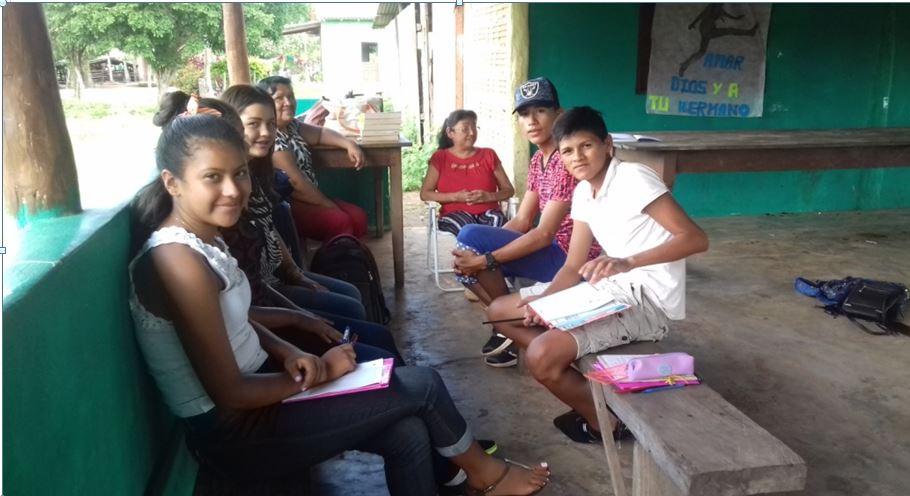 Avec des élèves boliviens