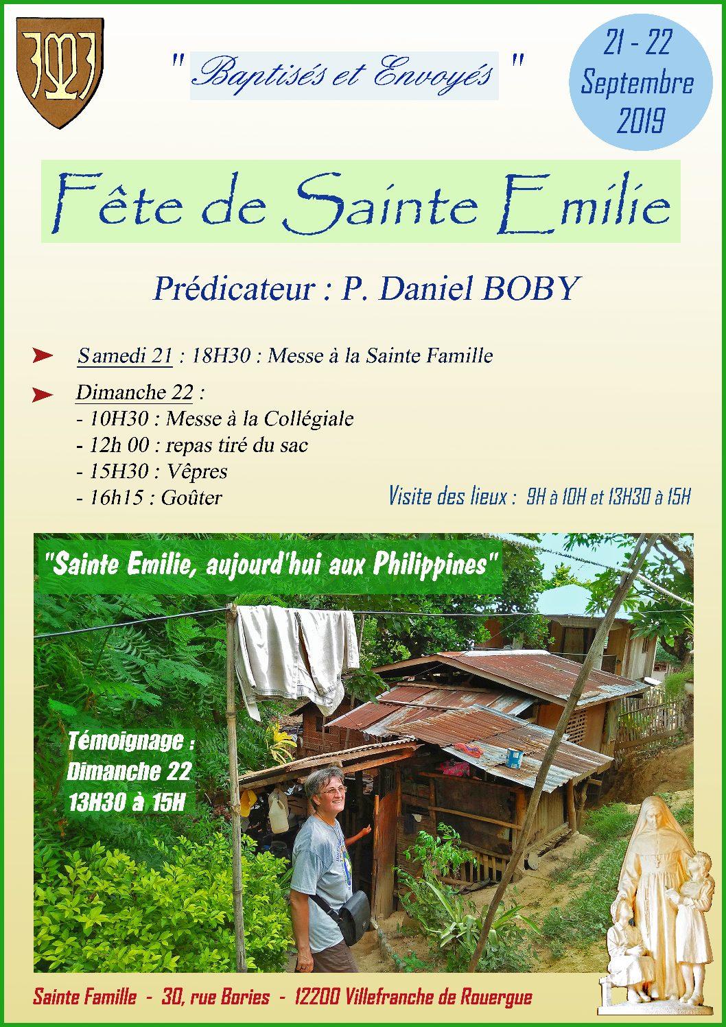 Sainte Emilie fêtée à Villefranche