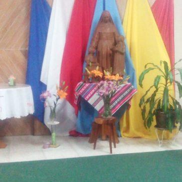 En Bolivie, préparation à la fête de Sainte Émilie