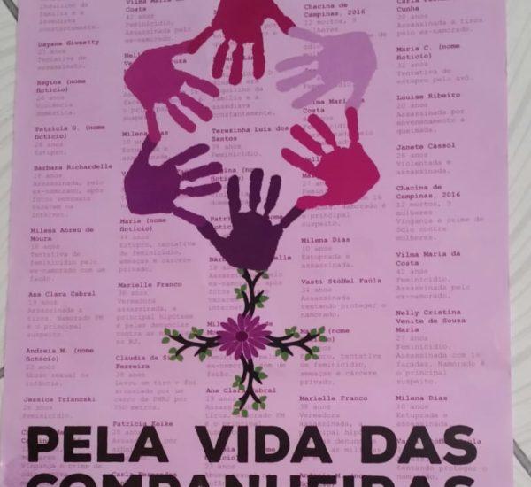 """Noms de femmes victimes, """"faire face aux violence contre les femmes, pour la vie des compagnes"""""""