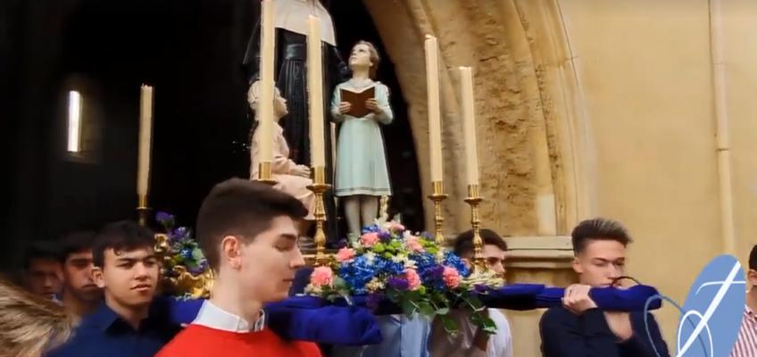 Procession de St Pierre au collège Las Francesas à Cordoue