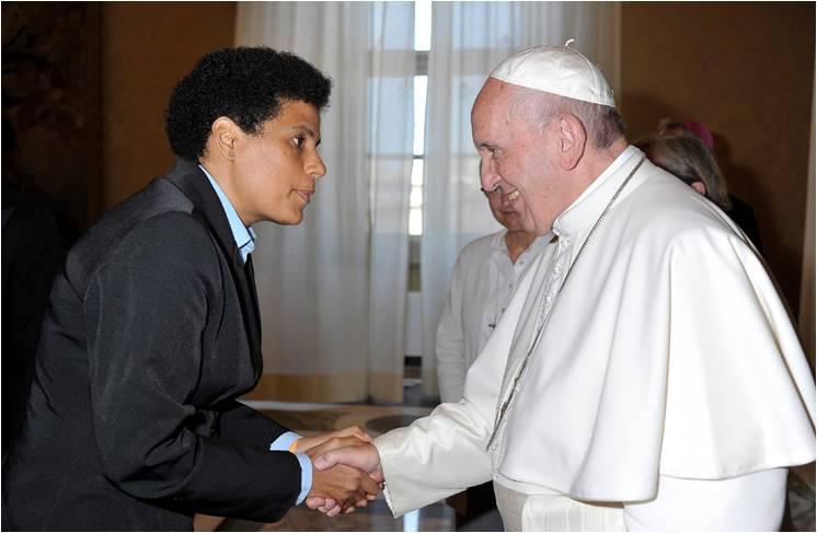 Sr Maria Luiza et le Pape François