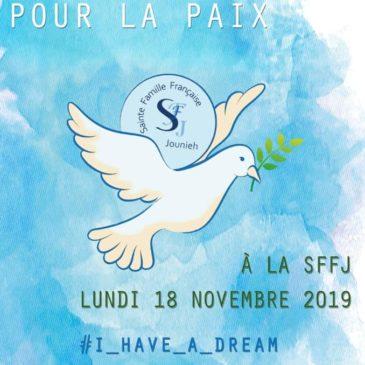 Liban : journée de la paix, 18 novembre 2019
