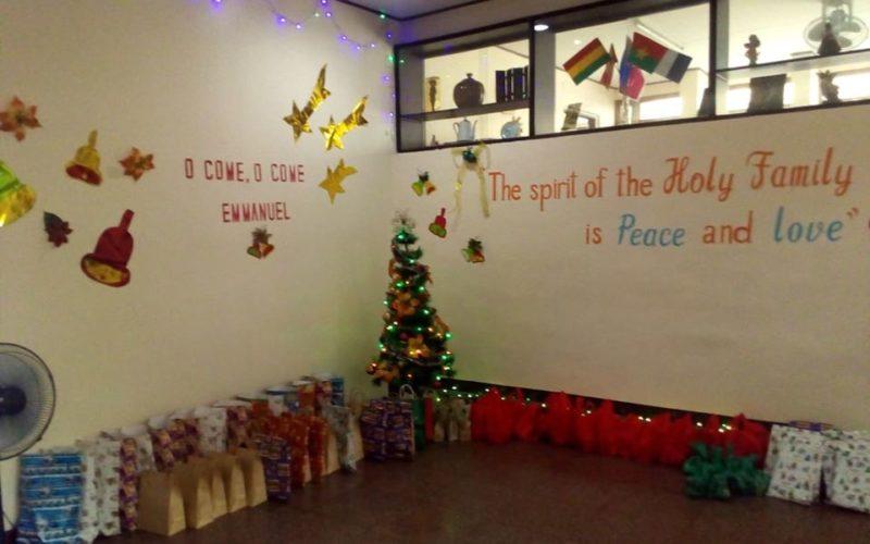 Une décoration de Noël soignée