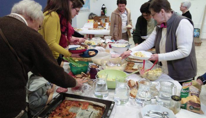 Des plats variés apportés par chacun