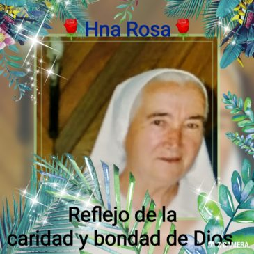 Hommage à Soeur Rosa de Jesús Morón (Frs/Esp)