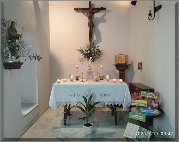 La chapelle décorée