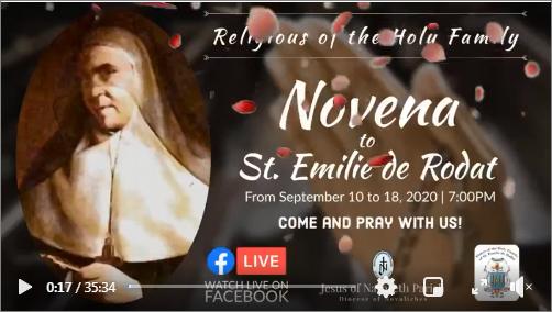 Des neuvaines à Sainte Émilie pour sa fête