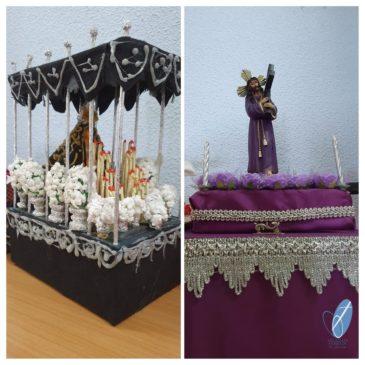 A Cordoue, réalisations de chars de procession miniatures (frs/esp)
