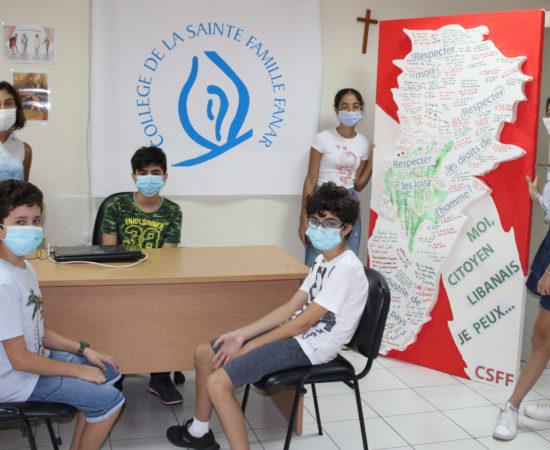 A l'école avec les masques