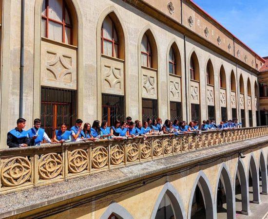 Salutation du balcon de Miranda de Ebro