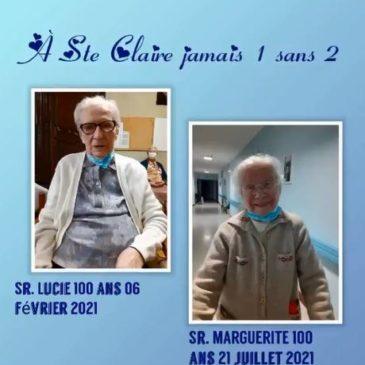 Une deuxième centenaire à Ste Claire!!!