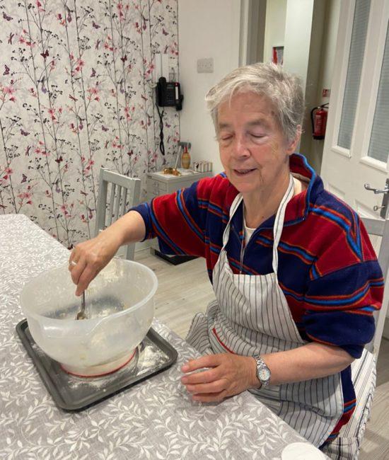 Sr Marion baking