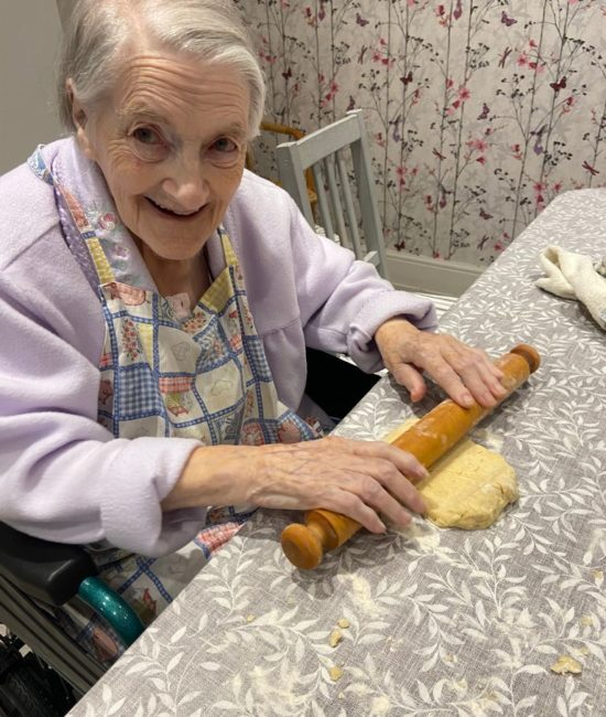 Sr Dolores baking
